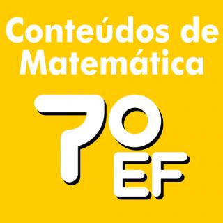Conteúdo Matemática 7º ano Ensino Fundamental