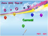 Jogos de tabuada - Tabuada Estoura Balão