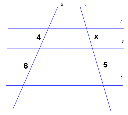 Resultado de imagem para imagem de exercicio sobre teorema de tales