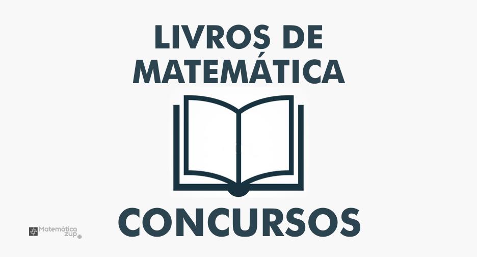 livros de matemática para concursos