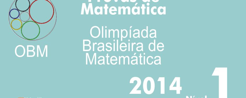 Provas de Matematica OBM 2014 – Nivel 1