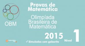 Provas de Matematica OBM 2015 - Nivel 1