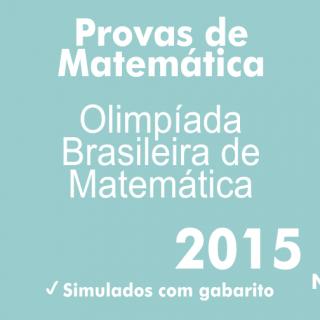 Provas de Matematica OBM 2015 - Nivel 3