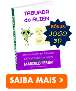 eBook Tabuada do Alien + Jogo 3D