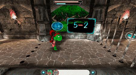 tabuada do alien jogo 3d subtração