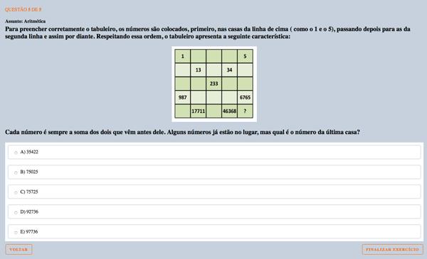 Exercício de Sequência de Fibonacci
