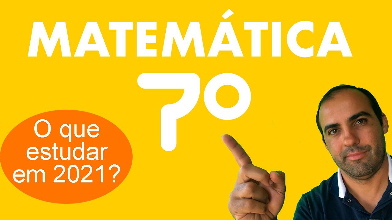 Matemática 7º ano 1